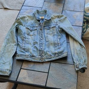 Abercrombie Jeans Jacket Light Wash Snap Buttons